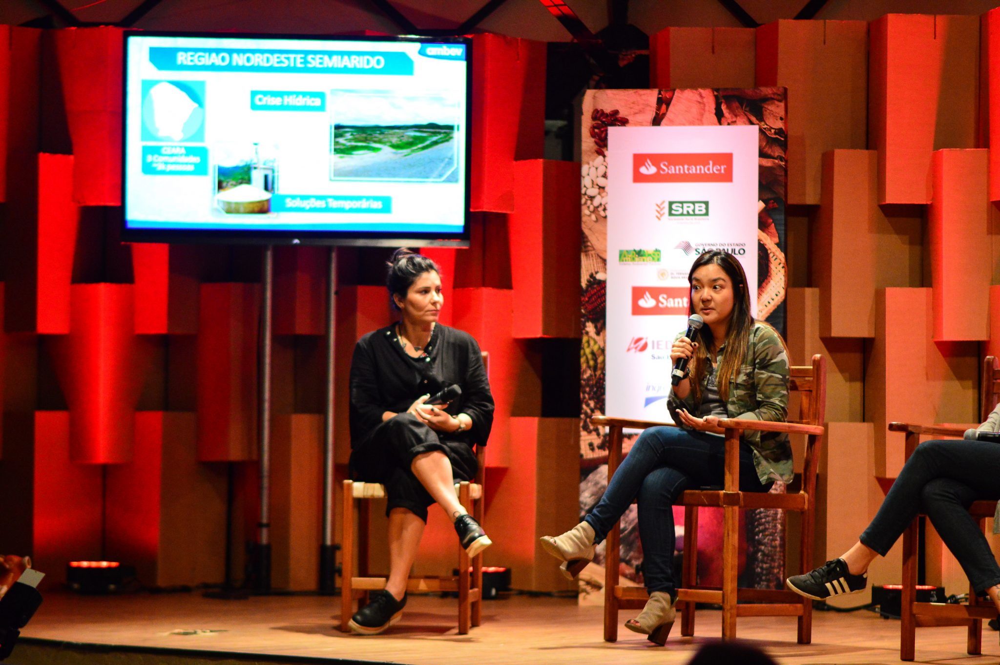 Andreia Matsui – gerente de sustentabilidade da Ambev na abertura da Feira Viva de Inverno