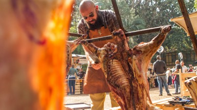 O chef Romulo Morente no Território Campanha Gaúcha na Feira Viva de Inverno 2017