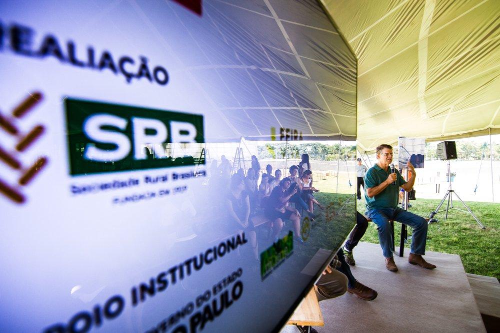Detalhe do palco da Feira Viva no Parque Villa-Lobos