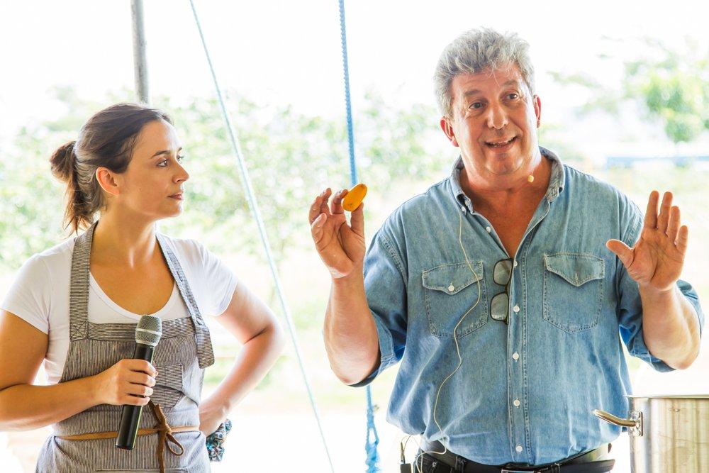 Bel Coelho e Edu, da Fazenda Jaracatiá na Feira Viva de Verão