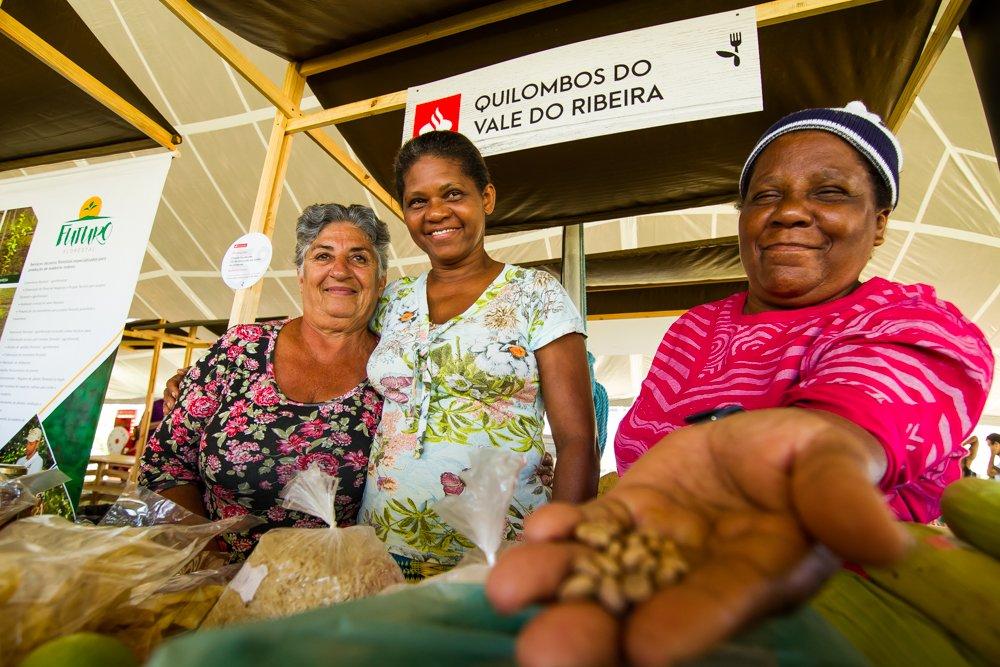 Representantes dos Quilombos do Vale do Ribeira levam seus produtos - alimento sustentável - para a Feira Viva de Verão 2018